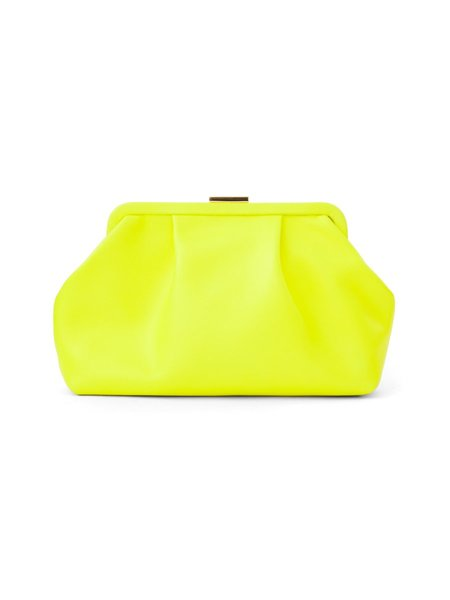 Clare V. Sissy Clutch - Neon Yellow