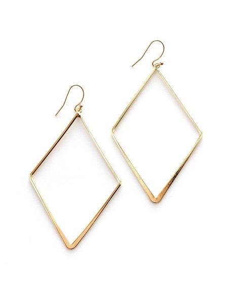 Jennifer Tuton Diamond Shape Earrings