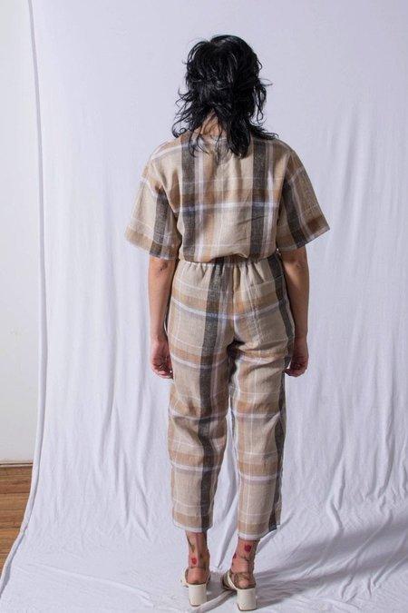 Unisex FAAN Slack Pants - Natural Plaid