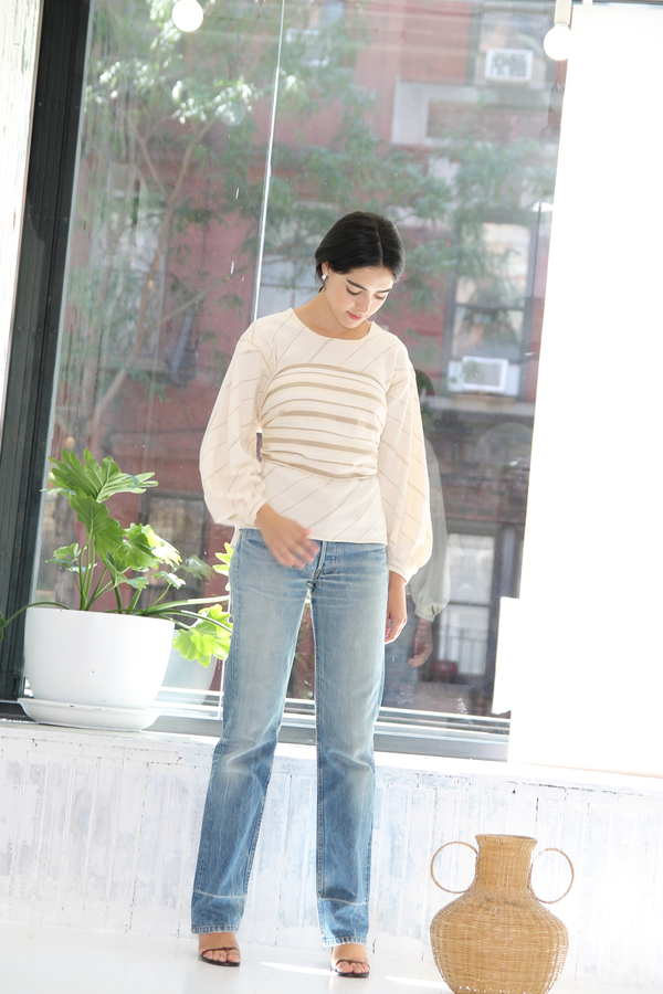 DUO NYC Vintage Stripe Woven Pullover Set