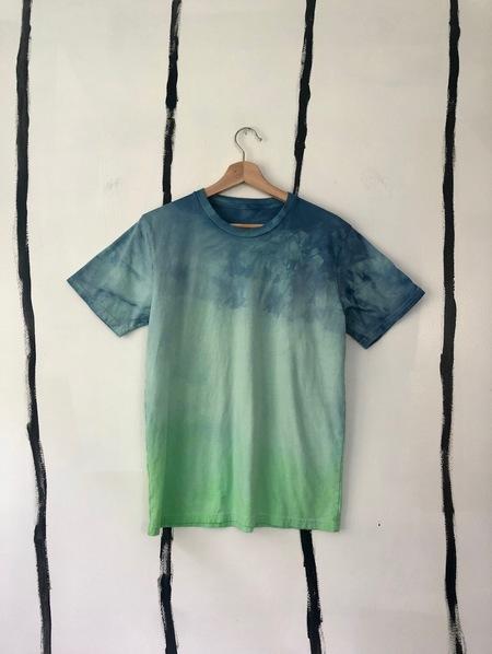 Unisex Audrey Louise Reynolds CBD LACED HEMP T-SHIRT - BLUE/GREEN