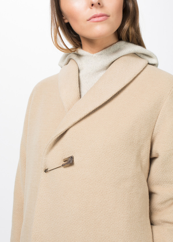 Evam Eva Angora Blend Robe Coat