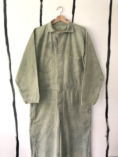 Unisex Audrey Louise Reynolds FORAGED CAMO JUMPSUIT - GREEN