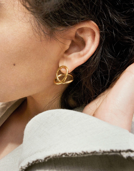 Completed Works The Curve of Time Earrings - Gold Vermeil