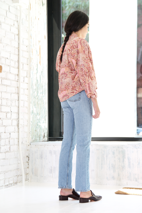 DUO NYC Vintage Silk Cropped Jacket