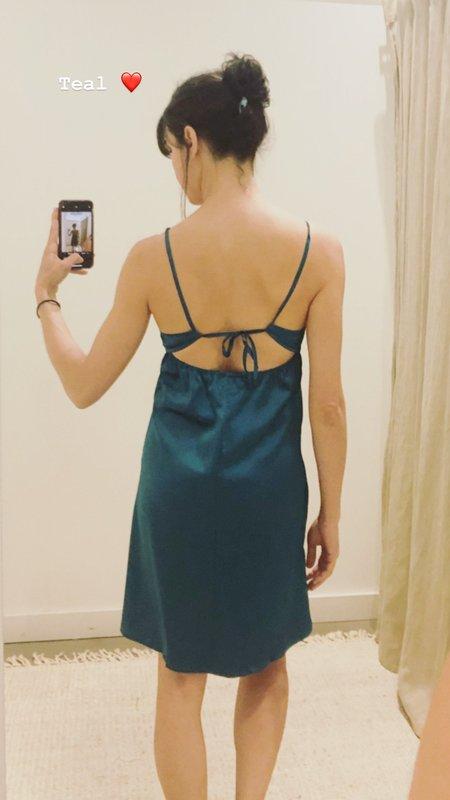 Salua Atelier Lingerie Tie Back Silk Chemise