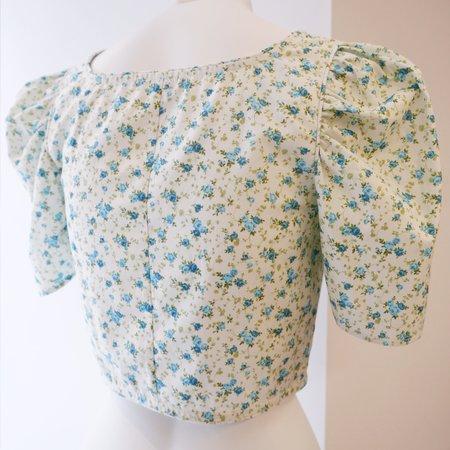 BATSHEVA Dirndl Crop Top - Mint Floral