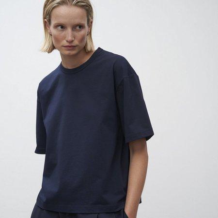 Studio Nicholson Lee Mercerized Cotton T Shirt - Navy