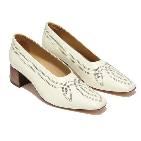 Mari Giudicelli Loren Ballerina Pump - Off White