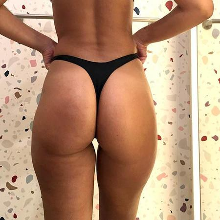 Minimale Animale Wall Street Thong Bikini Bottom - Black