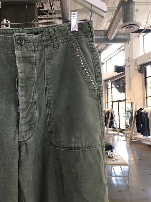 Loveless Studded Vintage Military Pant