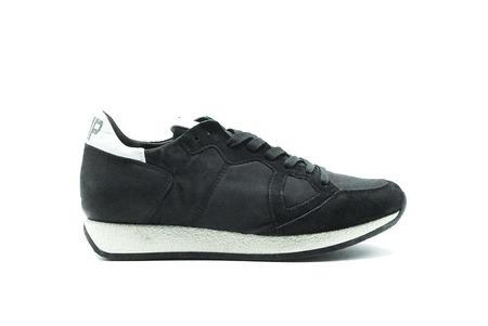 Philippe Model Monaco Vintage Basic Sneaker - Black