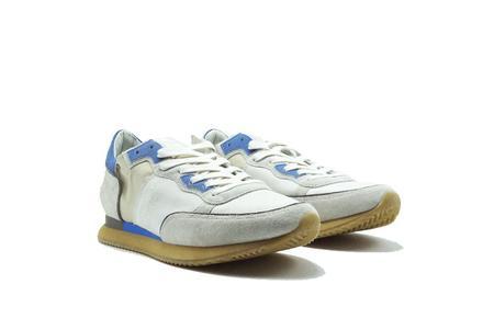 Philippe Model Tropez Mondial Vintage 70 Sneaker - White/Blue