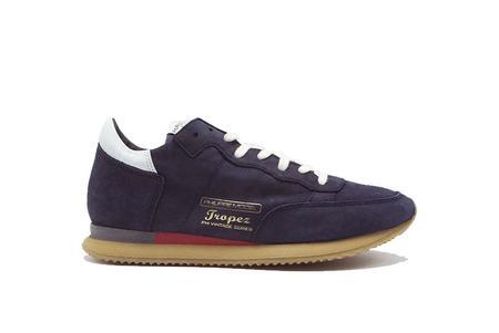 Philippe Model Tropez Vintage Nubuck Sneaker - Blue