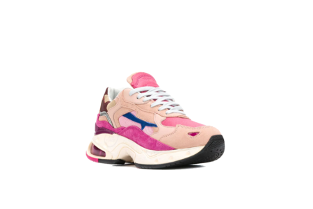 Premiata Sharky Sneakers - Pink/Burgundy
