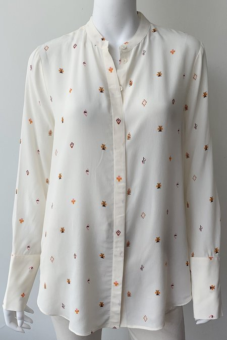 Closed Sparrow Printed Blouse - Unblanched