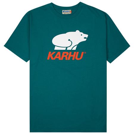 Karhu Basic Logo T-shirt - Bayou/White