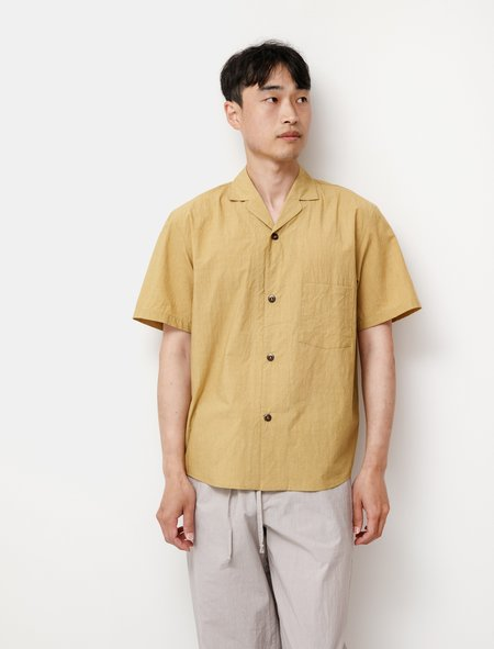 Frank Leder Paper Cotton Camp Shirt - Yellow