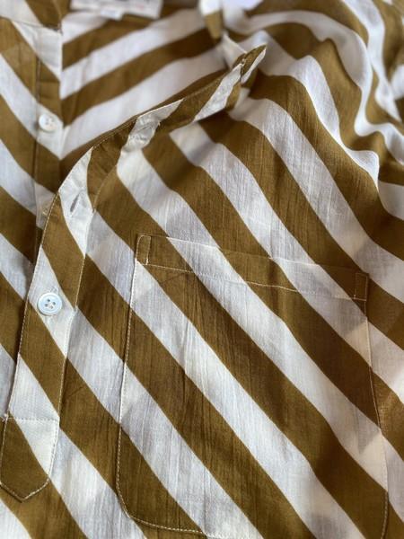 MOIS MONT 430 Tunic Dress - Tobacco stripe