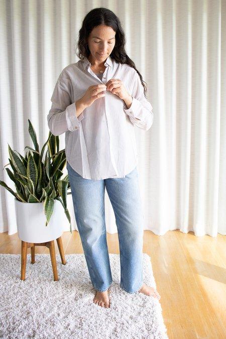 It is Well LA Longsleeve Button Down Shirt - Beige/Salt