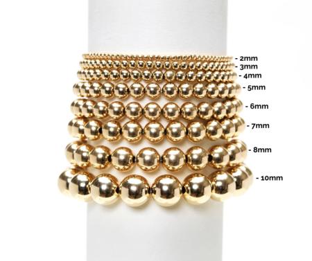 Karen Lazar 3mm Filled 3 White Pearl Pattern Bracelet - Yellow Gold