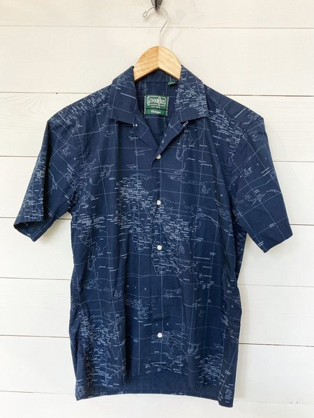 Gitman Bros. Gitman Vintage Camp Shirt - Navy Maps