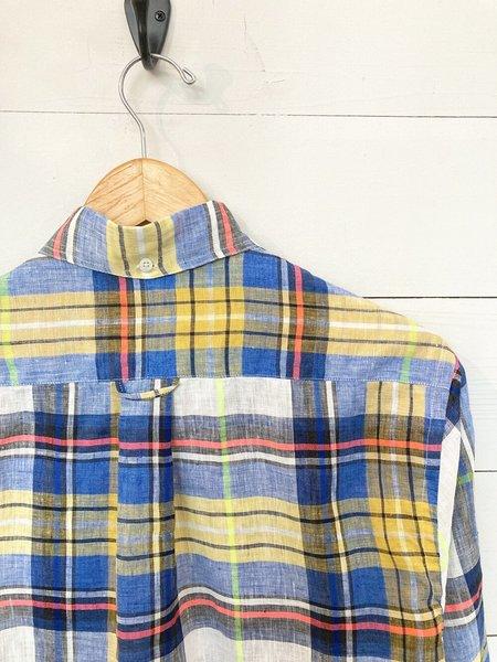 Gitman Bros. Gitman Vintage Linen Madras Shirt - Yellow Stripe/Fluorescent