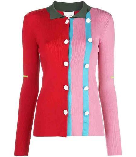 I am Chen Button Cardigan Contrast Cardigan - Pink