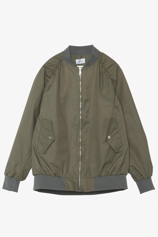 AMONG SEOUL Oversized Bomber Jacket- Khaki