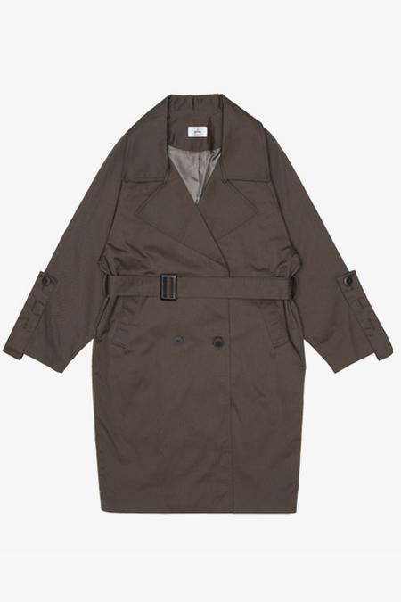 AMONG SEOUL Oversized Trench Coat- Khaki