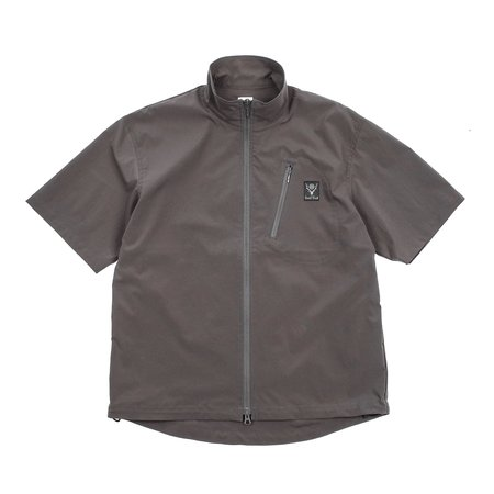 South2 West8 ZIPPED BOULDER SHIRT - CHARCOAL