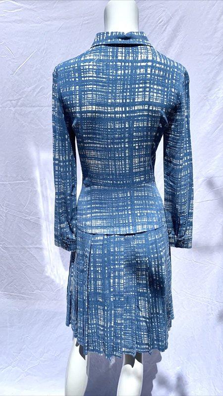 [pre-loved] Prada Screen Print Tweed Dress