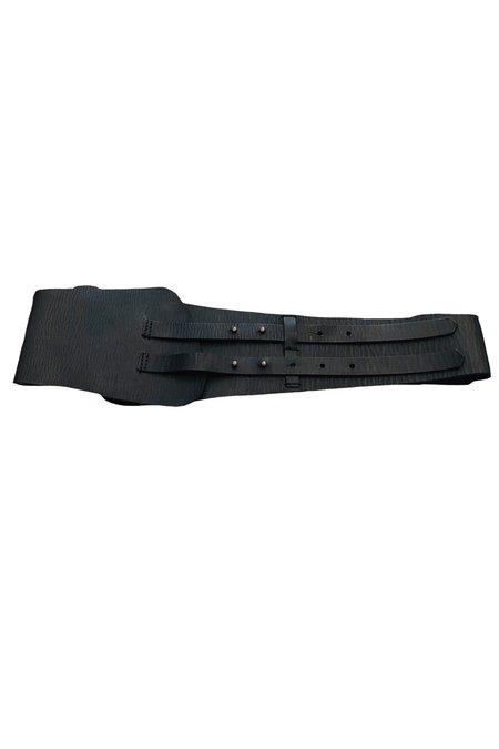 Forte Forte Brassiere Leather Belt - Black