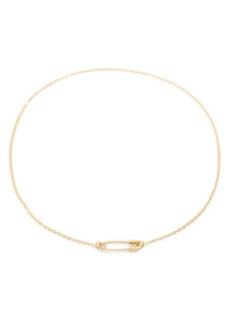 Futaba Hayashi Safety pin necklace - 14K reclaimed gold
