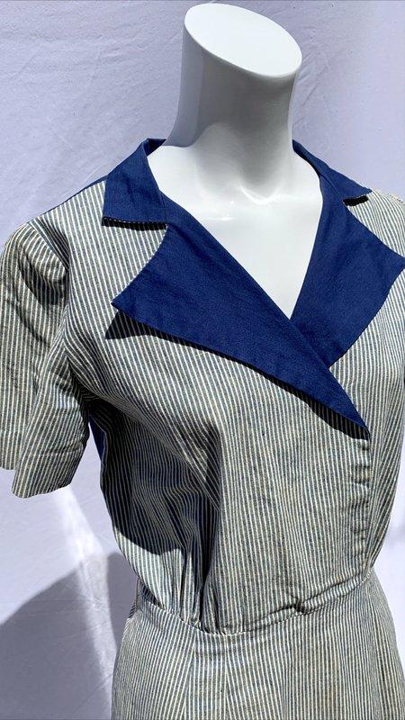 Vintage 50s Cotton Work Dress