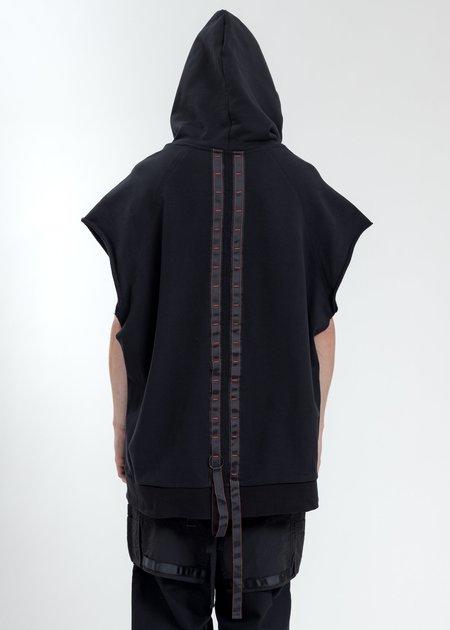 Komakino Oversized Sleeveless Hoodie - Black