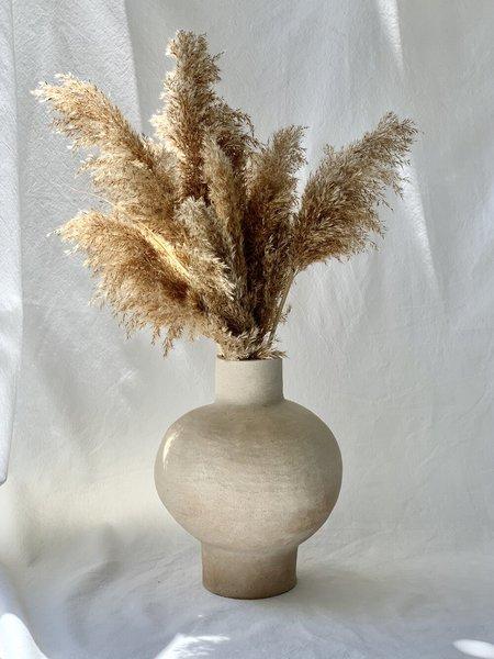 NEDDA STONEWARE MOON JAR - matte white