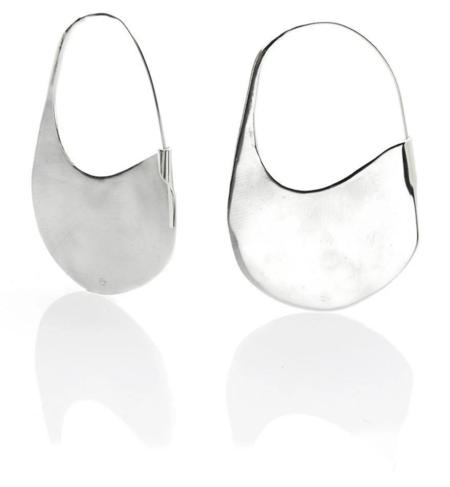 Ariana Boussard-Reifel fede plate earrings - Silver