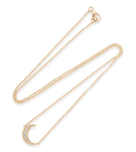 andrea fohrman crescent moon diamond necklace - 18K Gold