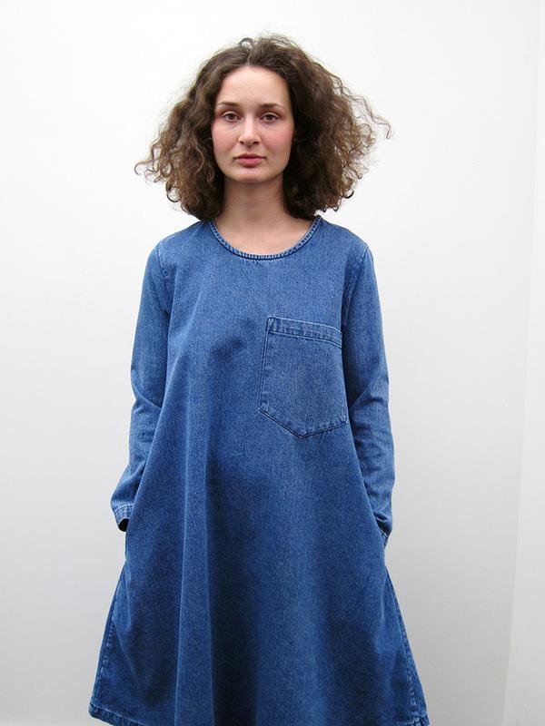 69 Basic Dress - Medium Denim