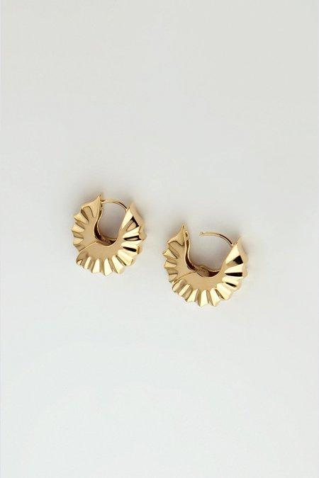 MM Druck Edo Earrings - Gold Vermeil