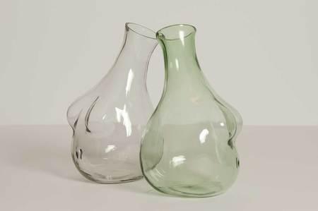Anna Karlin Studios Boobs Glass Decanter - Green