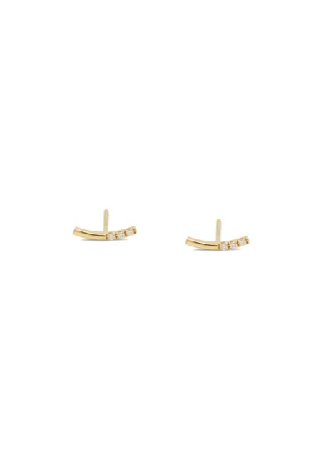 Futaba Hayashi Balance Curved Bar Earring  - Gold