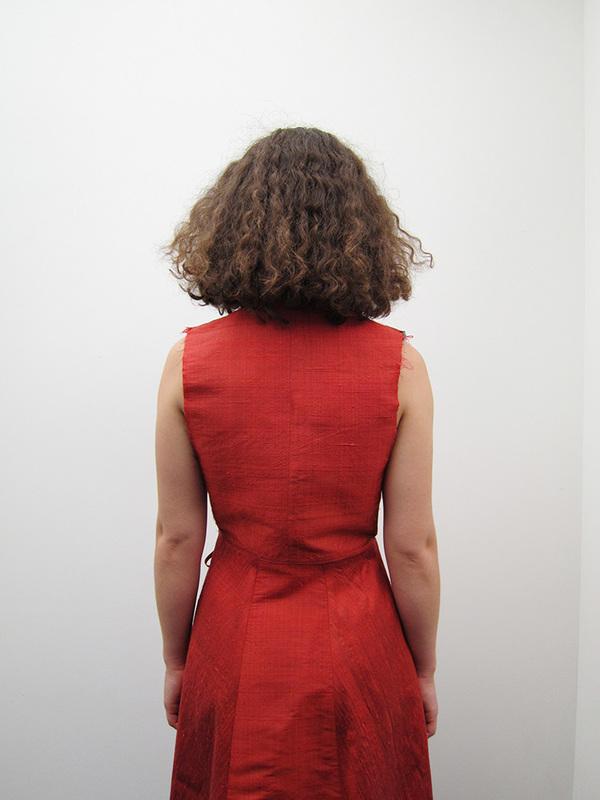Alexa Stark Wrap Dress, Red Silk