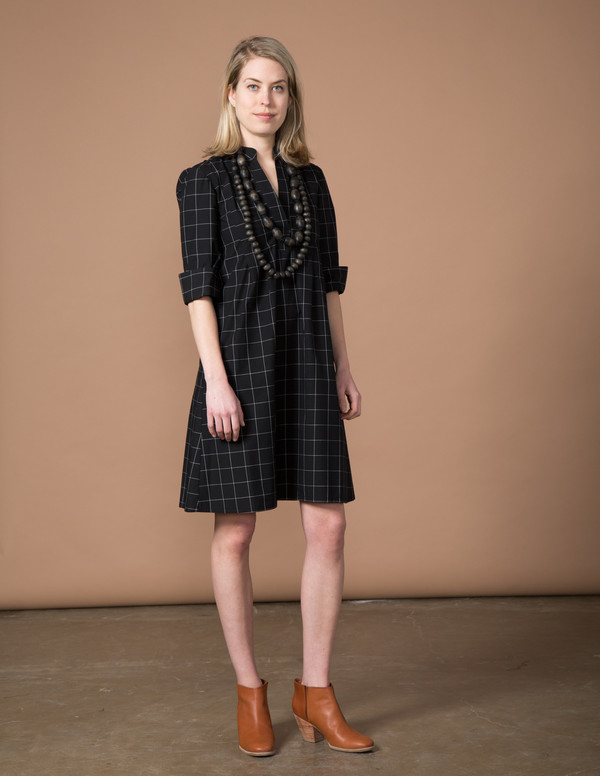 SBJ Austin Ellen Dress - Black Window Pane