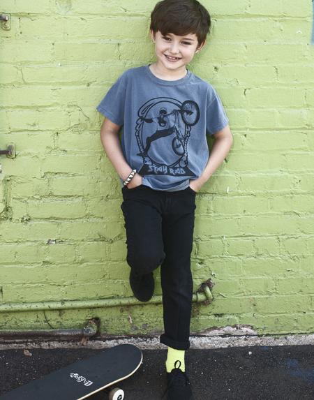 Kids Achors-n-Asteroids Stay Rad Tshirt - Vintage Blue