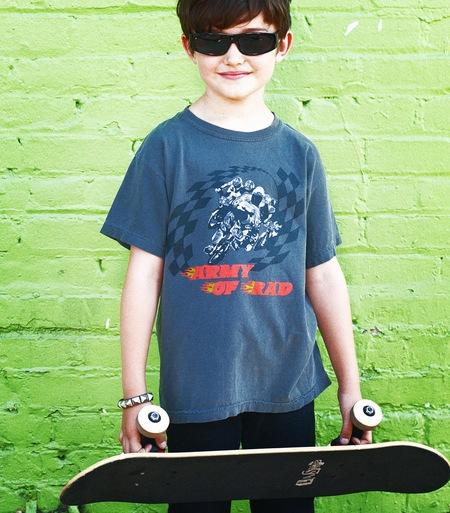 Kids Anchors-n-Asteroids Army of Rad Tshirt - Vintage Grey