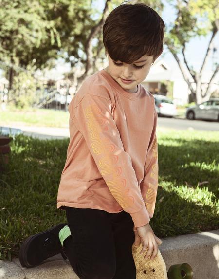 Kids Anchors-n-Asteroids California Tshirt - Terracota