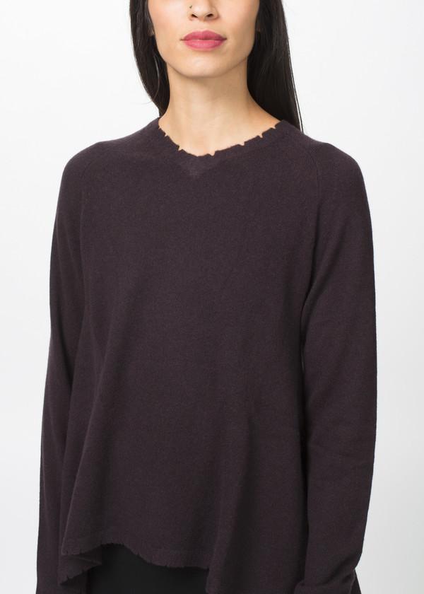 Rundholz Dip A-Line V Neck Sweater