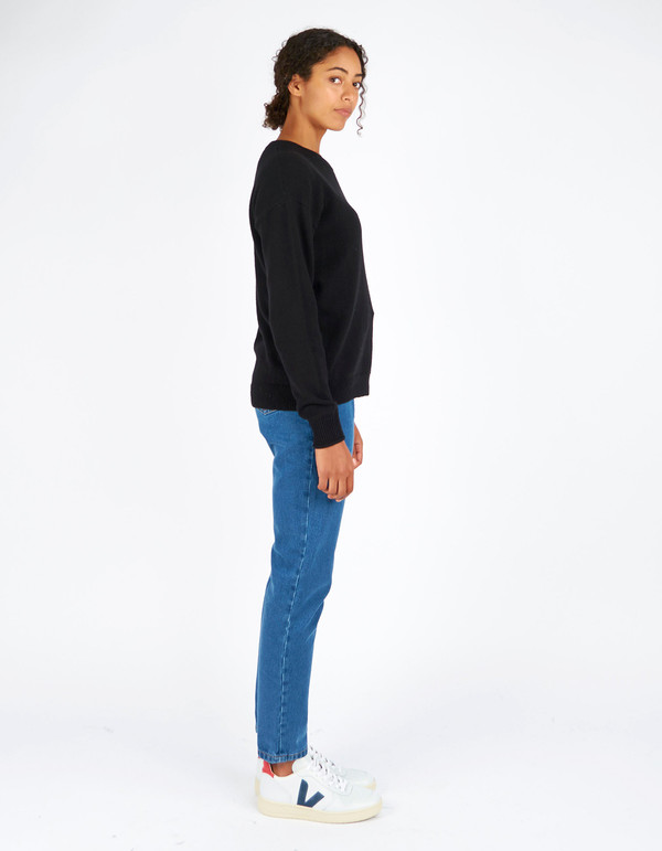 Filippa K Cotton Yak Pullover Black